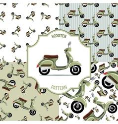 Pattern scooter set number 1 vector