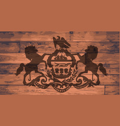 pennsylvania flag brand vector image
