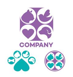 pet veterinary clinic logo vector image
