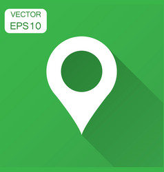 pin map icon in flat style gps navigation with vector image