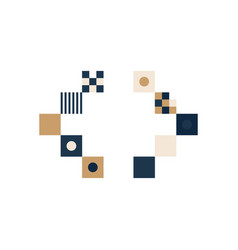 Pixel art left and right arrow mark colorful vector