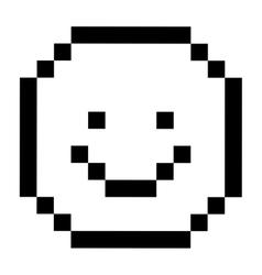 Pixel happy face design vector image