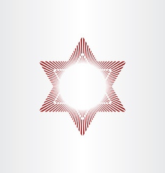 red star abstract background vector image