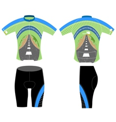 Road and sport shirt vector