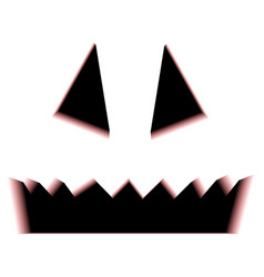 Scary halloween pumpkin face isolated on white vector