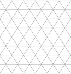 Seamless monochrome pattern with triangles rhomb vector