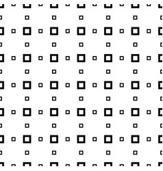 seamless square pattern abstract black and white vector image