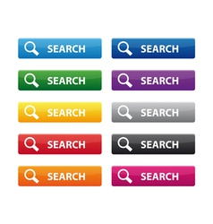Search buttons vector image