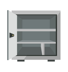 security concept with metal open box bank safe vector image