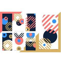 set modern design vertical web banner for social vector image