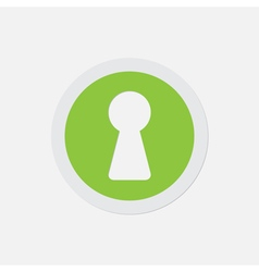 Simple green icon - keyhole vector