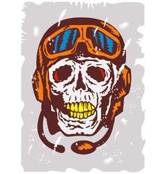 Skull Face Pilot Airman vector