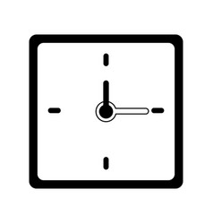 square wall clock icon image vector image