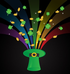 St Patricks Day Template Background vector image