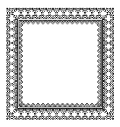 Stylish black frame vector