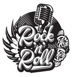 stylish print template on theme rock vector image