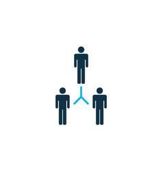 team building icon colored symbol premium quality vector image