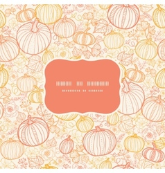 thanksgiving line art pumkins frame seamless vector image