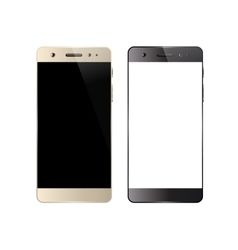 Two smartphones isolated vector
