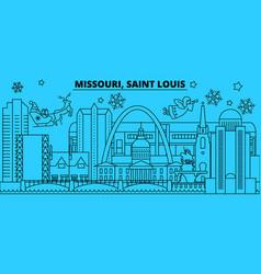 united states saint louis winter holidays skyline vector image