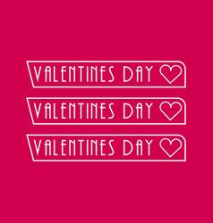 Valentines day logo design concept typo vector