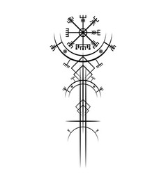 Vegvisir compass magic ancient viking art deco vector