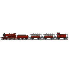 Vintage red steam passenger vector