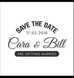 Vintage save the date image vector