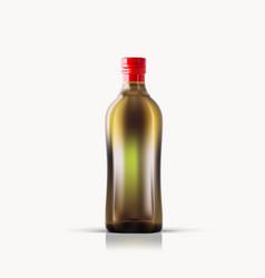 virgin olive oil bottle isolated on white vector image