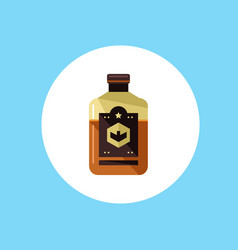 whiskey bottle icon sign symbol vector image