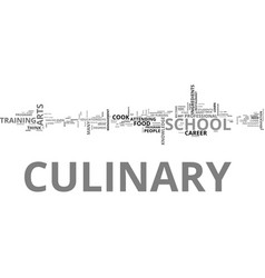 Why attend culinary school text word cloud concept vector