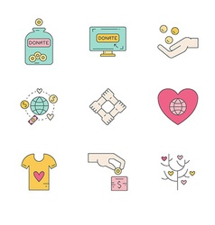 Donation icons vector
