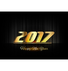 Gold New Year 2017 Luxury Symbol vector image
