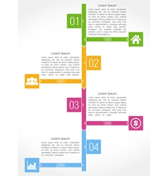 Timeline Puzzle Design vector image vector image