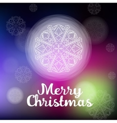 beautiful white Christmas snowflake vector image vector image