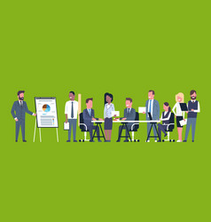 business presentation concept team brainstorming vector image vector image