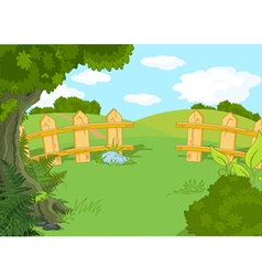 Idyllic landscape vector image vector image