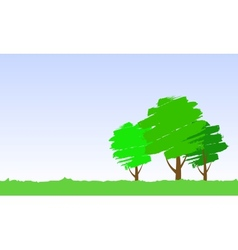 paint tree vector image vector image