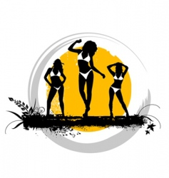 summer girls vector image