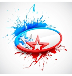 Abstract American Flag Background vector image