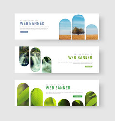 banners with a place for photos in the form of vector image vector image