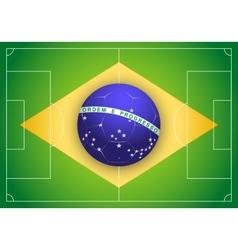 Brazilian Flag and Championship of football 2014 vector image