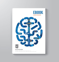 Cover Book Digital Design Brain Concept Template vector image