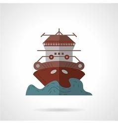 Cruise ship flat color icon vector image