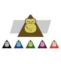 Gorilla Faces vector image
