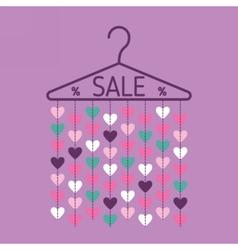 Hanger with heart garland Sale banner vector image vector image