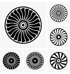 Jet engine turbine vector image vector image