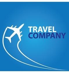 Modern minimalistic airplane travel logo vector