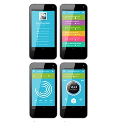 Simple template interface for phone vector image