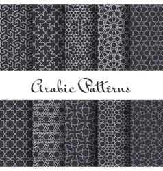 Ten arabic patterns set vector image